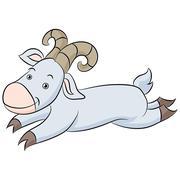 Leaping Goat Cartoon Stock Illustration