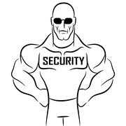 Security Guard Cartoon Stock Illustration