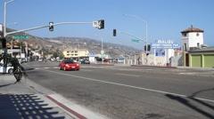 Malibu PCH Minimal Traffic Stock Footage