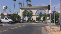 Paramount Pictures Melrose Gate Stock Footage
