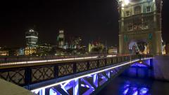 Tower Bridge Timelapse London Stock Footage