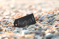 August Travel concept - stock photo