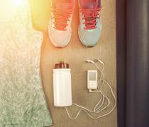 Stock Photo of sport set for running.