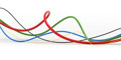 Colorful cable - stock illustration