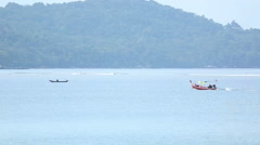 Longtail boat Stock Footage