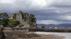 Carlingford Castle Ireland Stock Footage