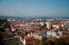 Ljubljana city Stock Photos