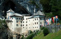 Predjama Castle - stock photo
