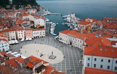 Piran city Stock Photos