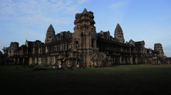 Time Lapse Morning Sunrise Main Temple -  Angkor Wat Cambodia Stock Footage