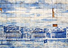 Lisbon mosaic Stock Photos