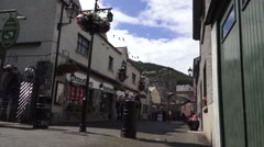 Irish village street in Ireland - stock footage