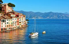 Portofino Italy Ligurian coast Stock Photos