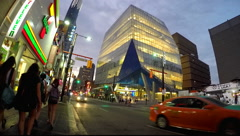 Toronto Ryerson University Yonge Street Stock Footage