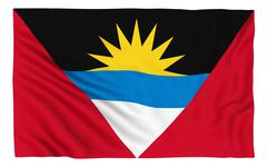 Flag of Antigua and Barbuda - stock illustration