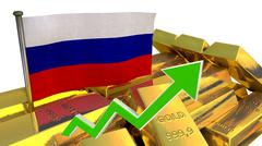 Currency appreciation - Russian ruble Stock Illustration