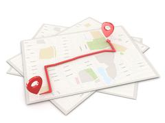Location Point on Map Stock Illustration