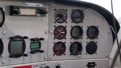 Instrument panel sports aircraft Stock Footage