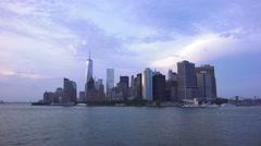 Wideshot Lower Manhattan Skyline New York City Stock Footage