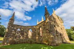 Convict Church Port Arthur - stock photo