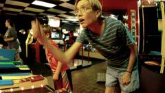 arcade games people memorable inspiring experience pleasure - stock footage