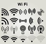 Wi Fi icons set vector illustration Stock Illustration