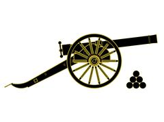 cannon 18 th century. Vector - stock illustration