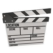 Cinema clapperboard 3D - stock illustration