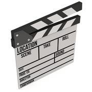 Cinema clapperboard 3D Stock Illustration