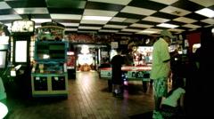 arcade games people memorable inspiring experience pleasure - stock footage