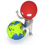 3d thief and earth Stock Illustration
