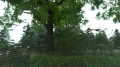 Rain Drops on Window Glass - 01 Stock Footage
