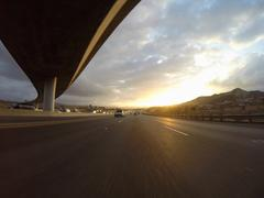 Freeway Sunrise - stock photo