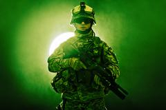 airborne infantry - stock photo