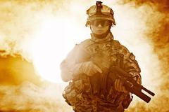 Airborne infantry Stock Photos