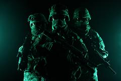 Paratroopers airborne infantry Stock Photos