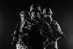 paratroopers airborne infantry - stock photo