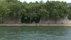 Ile Saint-Louis Riverside - stock footage