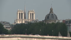 Musee National and Notre Dame Stock Footage