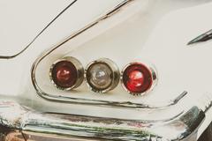 Headlight lamp car - stock photo