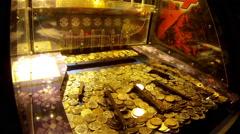 Arcade games wealth treasure inspiring experience pleasure Stock Footage