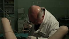 Urology. Urological review. Urologist examining patient, tilt down, close up. Stock Footage