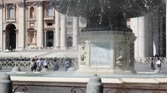 Fountain San Pietro Church BG Stock Footage