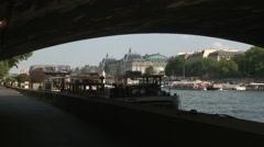 Musee d'Orsay Through Pont de la Concorde Stock Footage