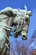 Rienzi General Phil Sheridan's Horse Memorial Civil War Statue Sheridan Circl Stock Photos