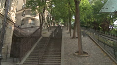 Stairs on Monmartre Stock Footage