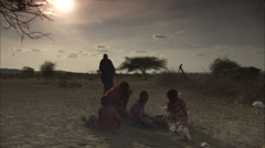 Maasai Children Playing, The Rift Valley Stock Footage
