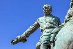 General Phil Sheridan Memorial Civil War Statue Sheridan Circle Embassy Row P - stock photo