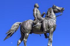 Major General George Henry Thomas Civil War Statue Thomas Circle Washington D Stock Photos