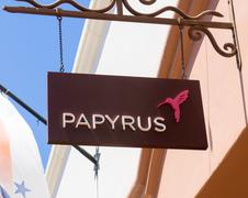 Papyrus Store and Sign Stock Photos